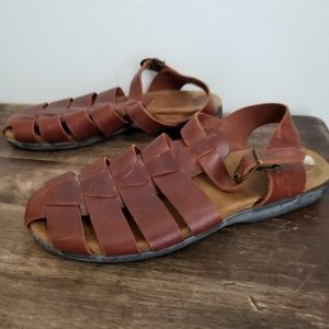 Rockport Shoes - Rockport huarache brown leather sandals